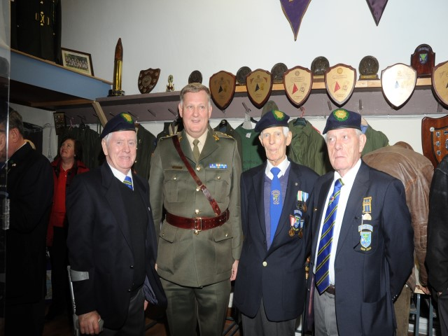 Denis Flynn, chairman, Col Brendan McAndrew, Eddie Doherty and Seamus Flynn pictured at the official opening.